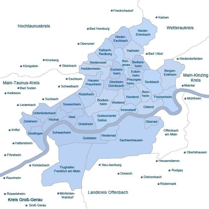 Stadtviertel Frankfurt
